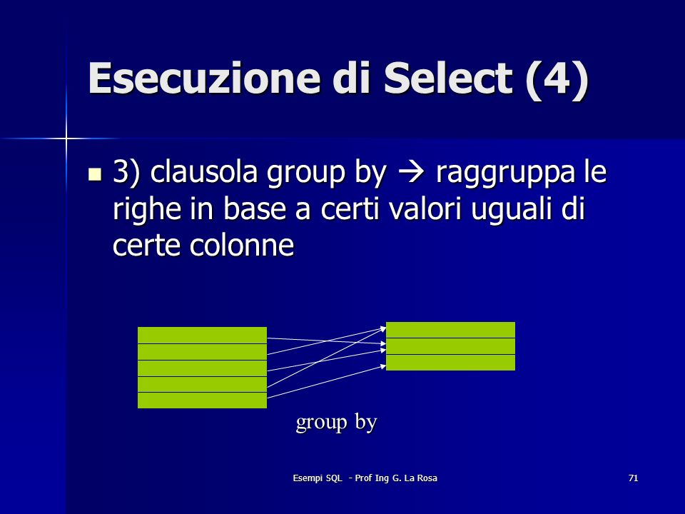 Esecuzione di Select (4)