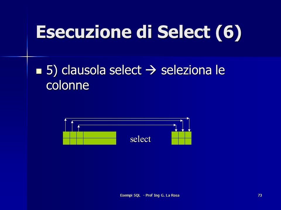 Esecuzione di Select (6)