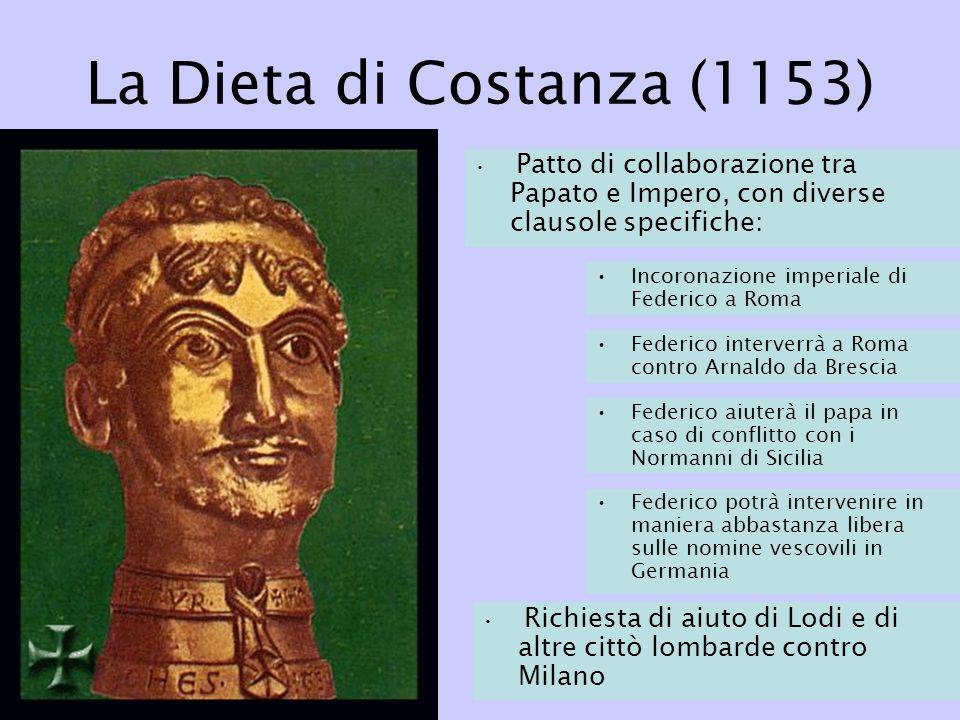 La Dieta di Costanza (1153) Incoronazione imperiale di Federico a Roma