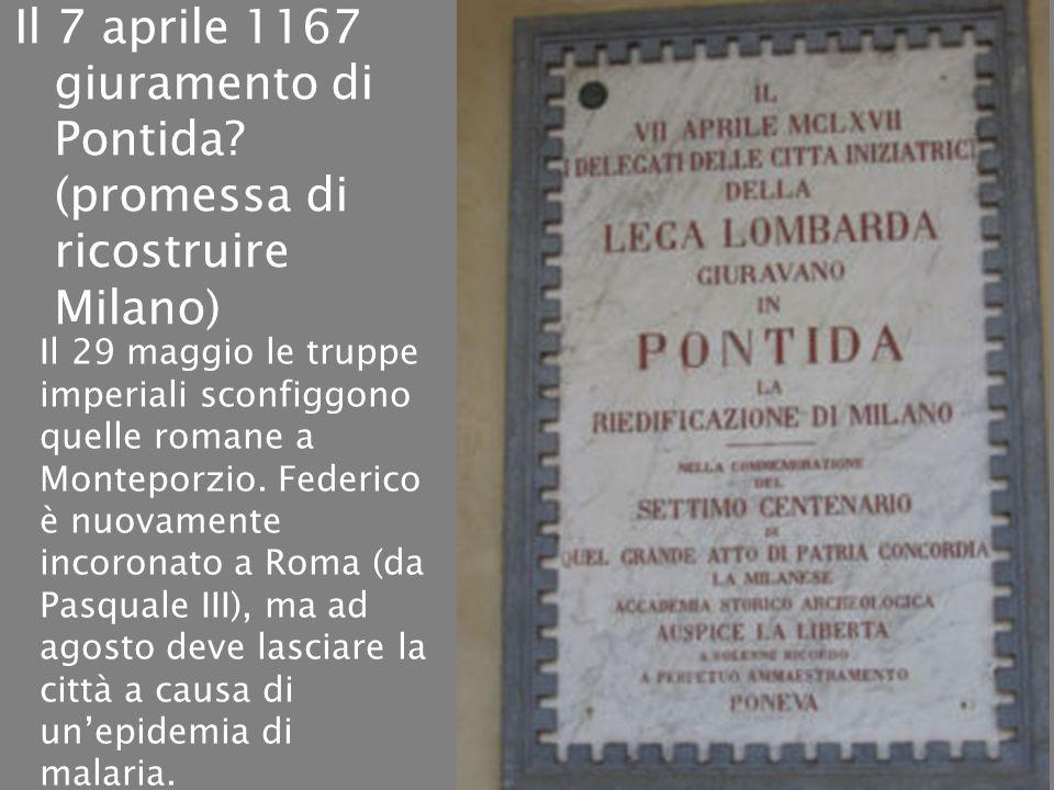 Il 7 aprile 1167 giuramento di Pontida