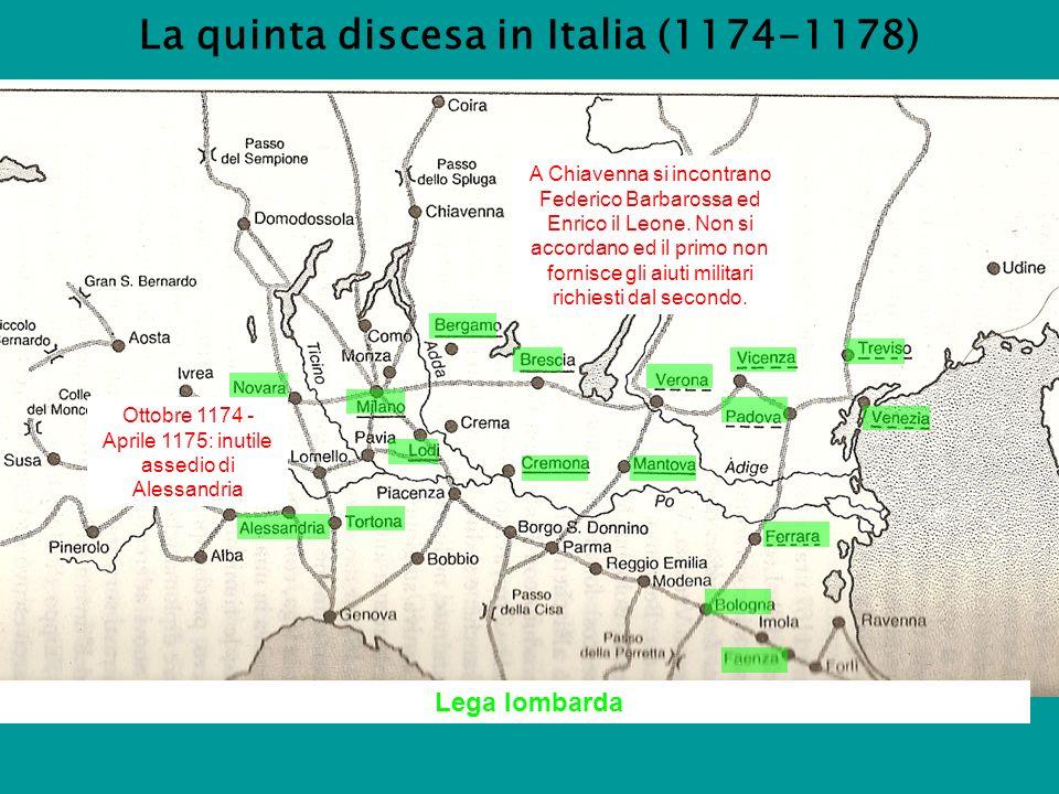 La quinta discesa in Italia (1174-1178)