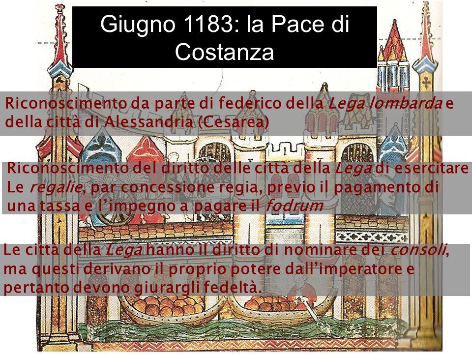 Giugno 1183: la Pace di Costanza