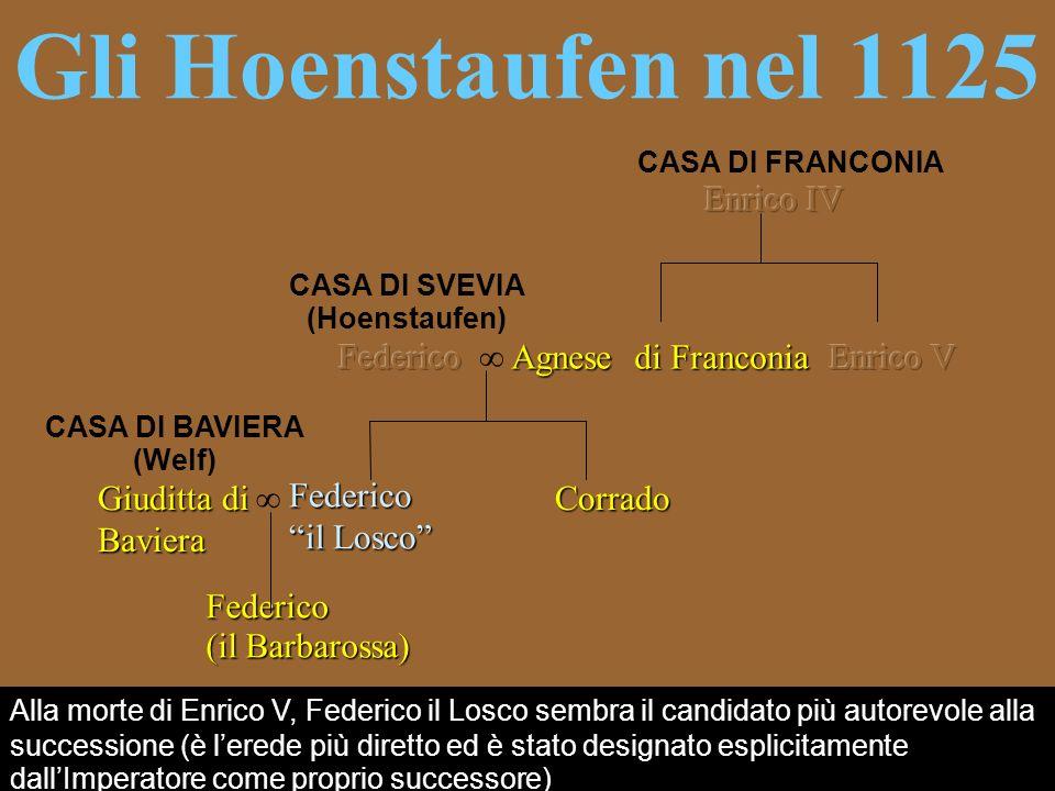 CASA DI SVEVIA (Hoenstaufen) CASA DI BAVIERA (Welf)
