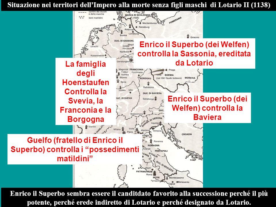 Enrico il Superbo (dei Welfen) controlla la Baviera