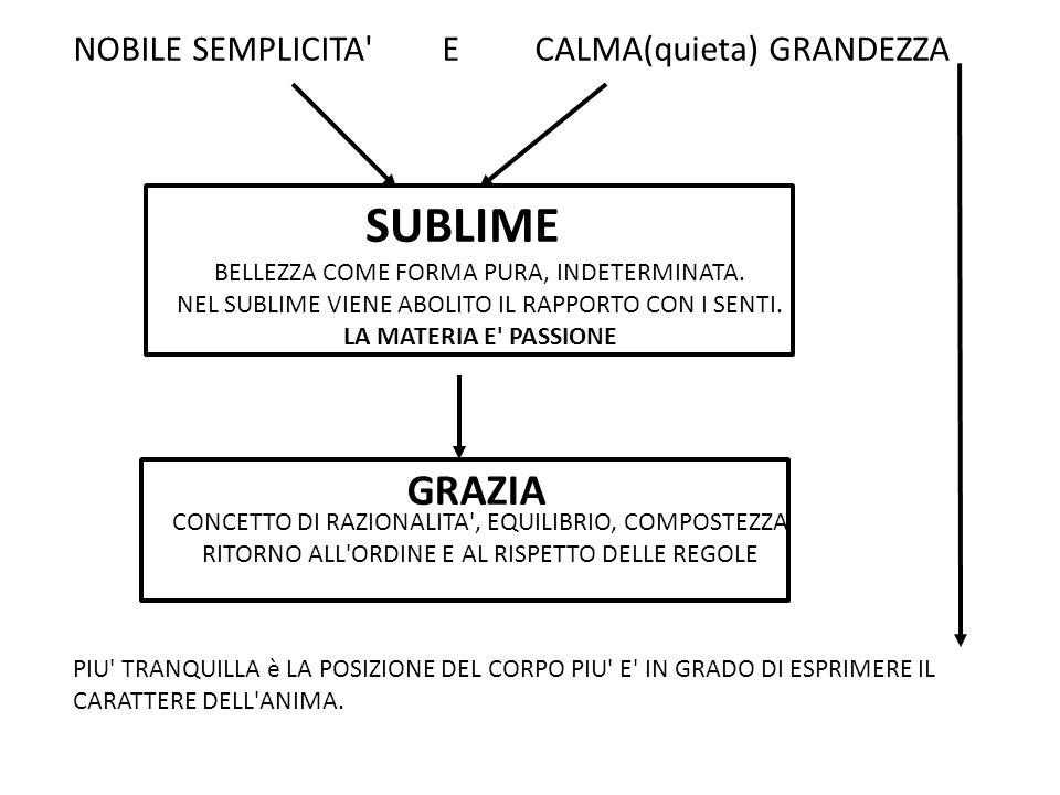 SUBLIME GRAZIA NOBILE SEMPLICITA E CALMA(quieta) GRANDEZZA