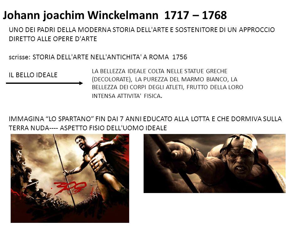Johann joachim Winckelmann 1717 – 1768