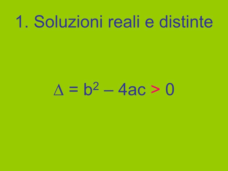 1. Soluzioni reali e distinte