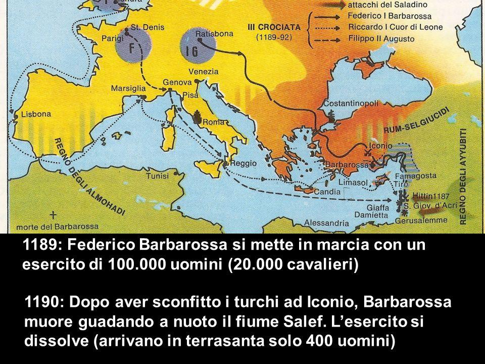 1189: Federico Barbarossa si mette in marcia con un esercito di 100