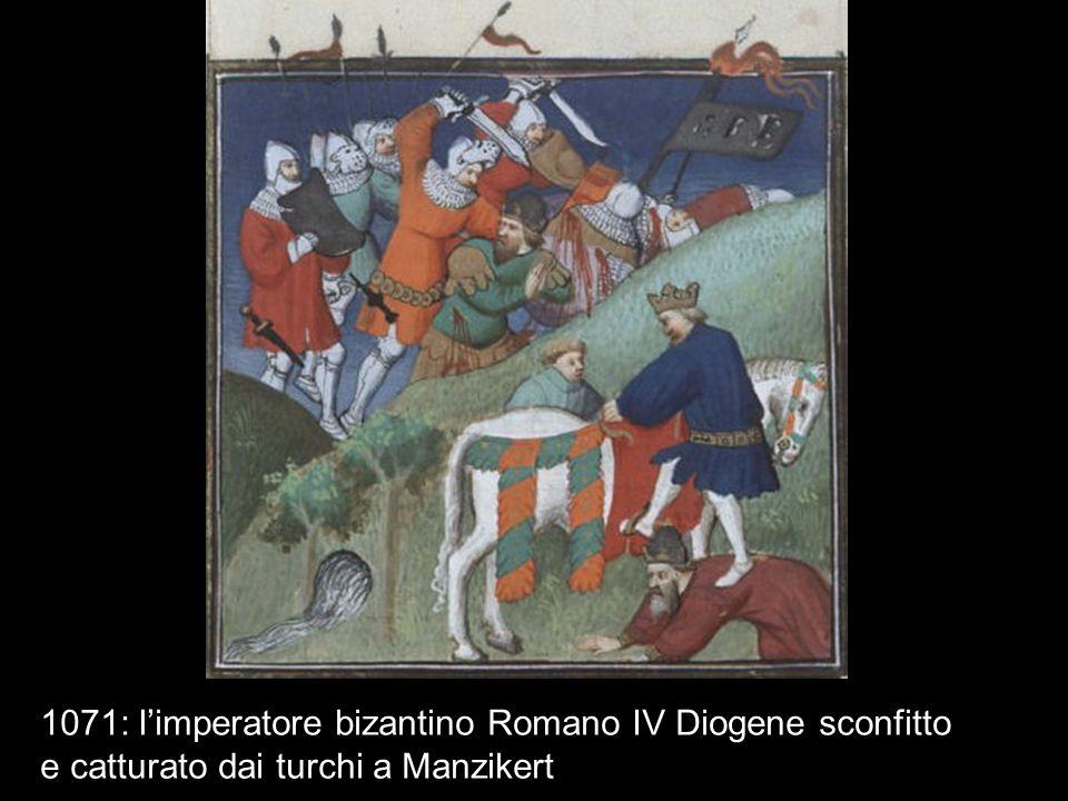 1071: l'imperatore bizantino Romano IV Diogene sconfitto e catturato dai turchi a Manzikert