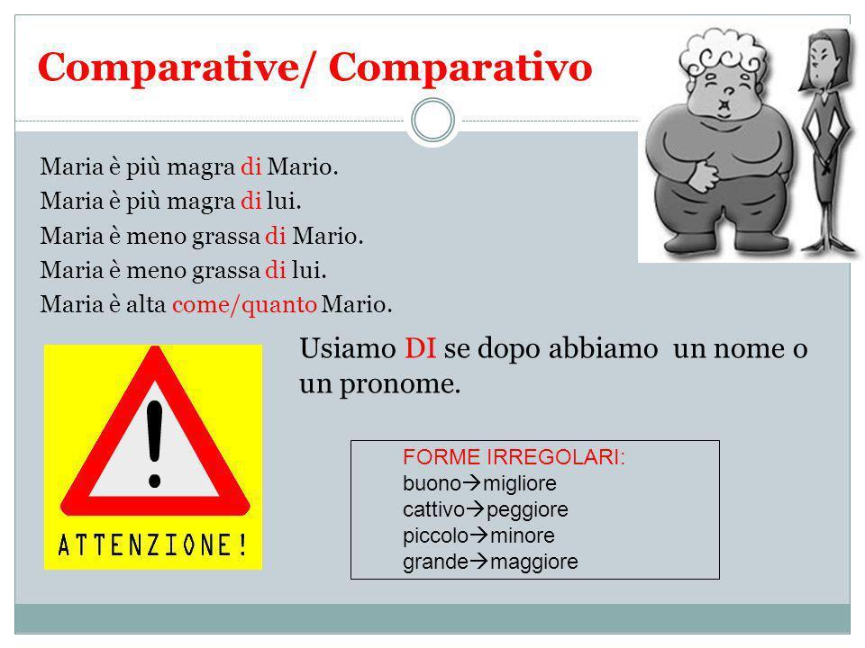 Comparative/ Comparativo