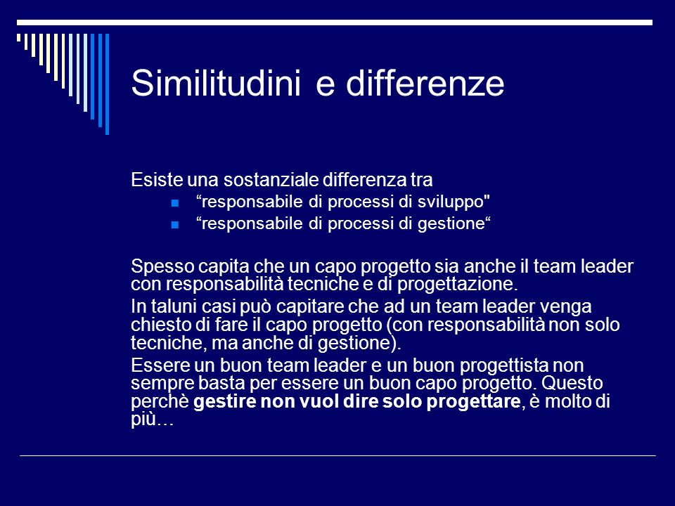 Similitudini e differenze