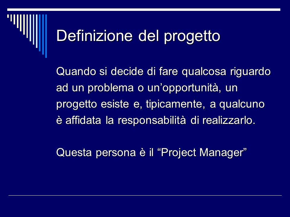 Definizione del progetto