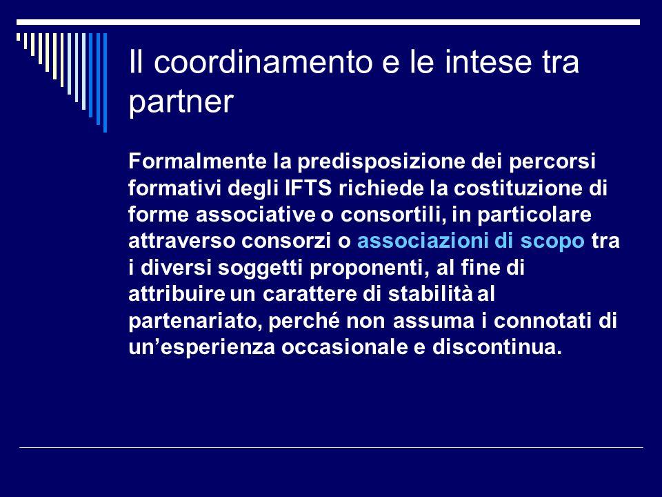 Il coordinamento e le intese tra partner