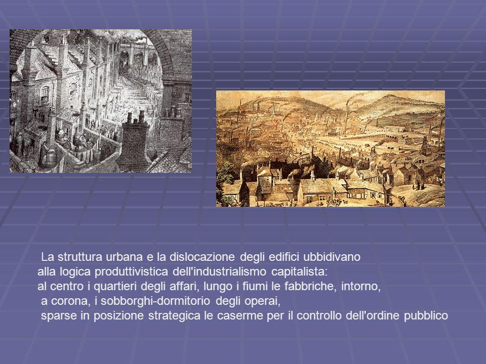 La struttura urbana e la dislocazione degli edifici ubbidivano