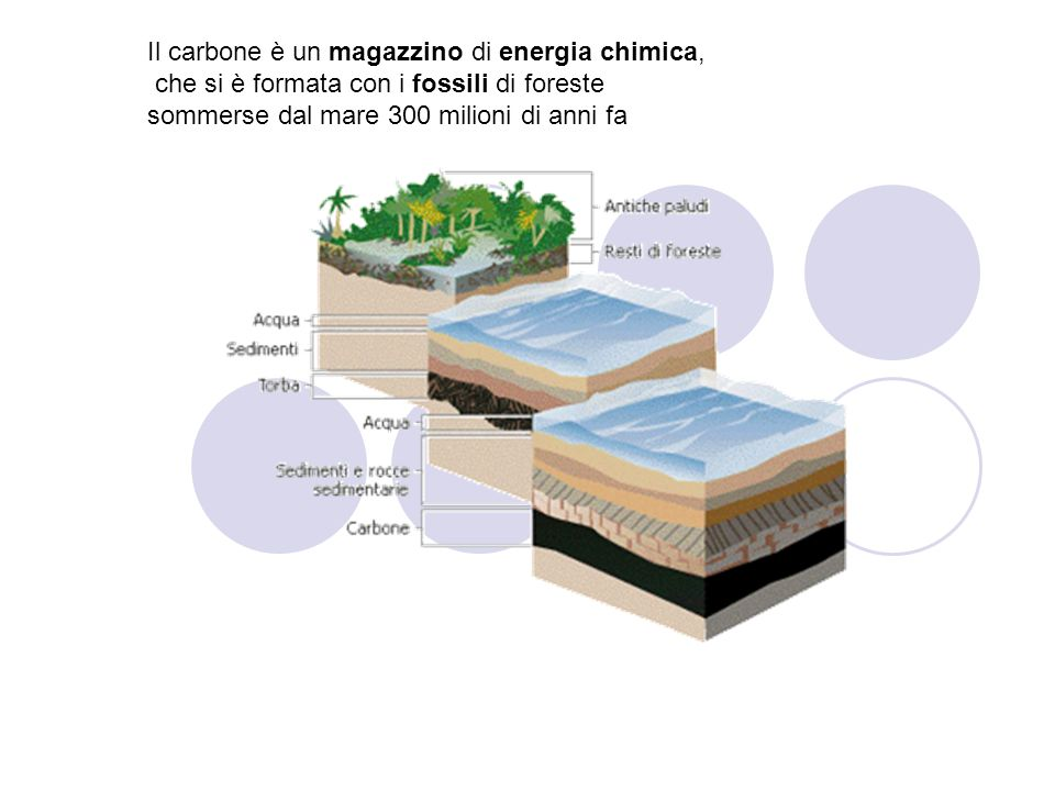 Il carbone è un magazzino di energia chimica,