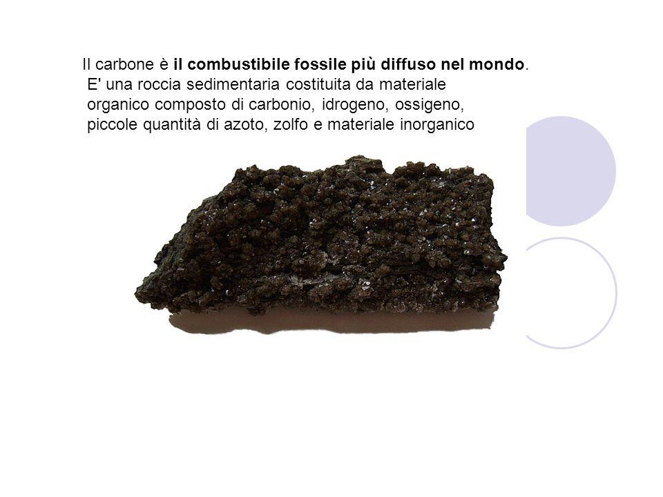 Il carbone è il combustibile fossile più diffuso nel mondo.