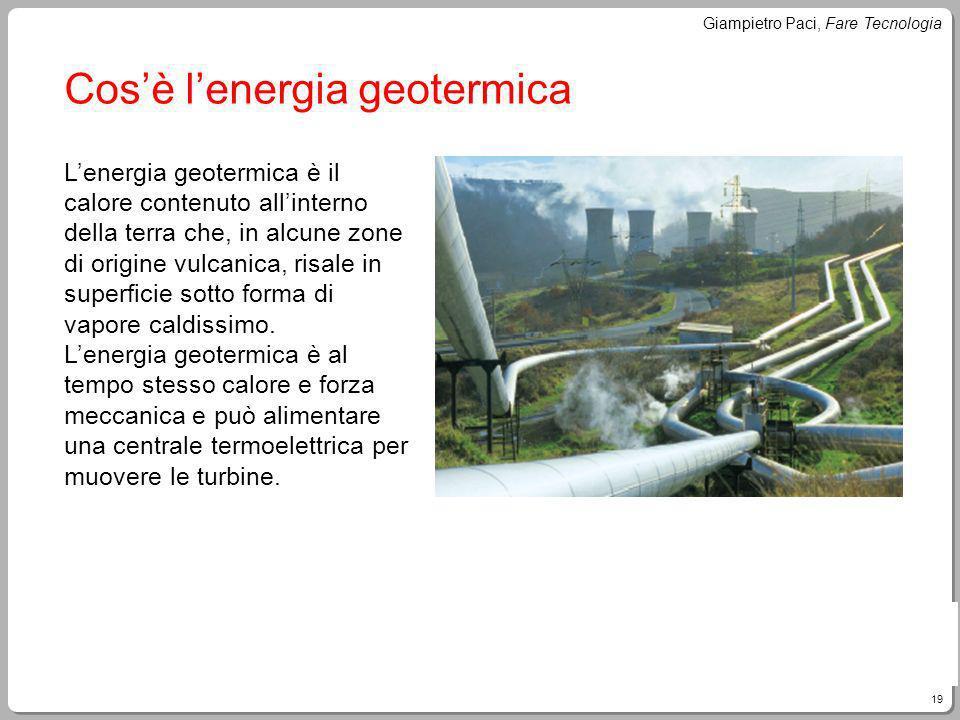 Cos'è l'energia geotermica
