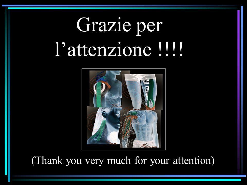 Grazie per l'attenzione !!!!