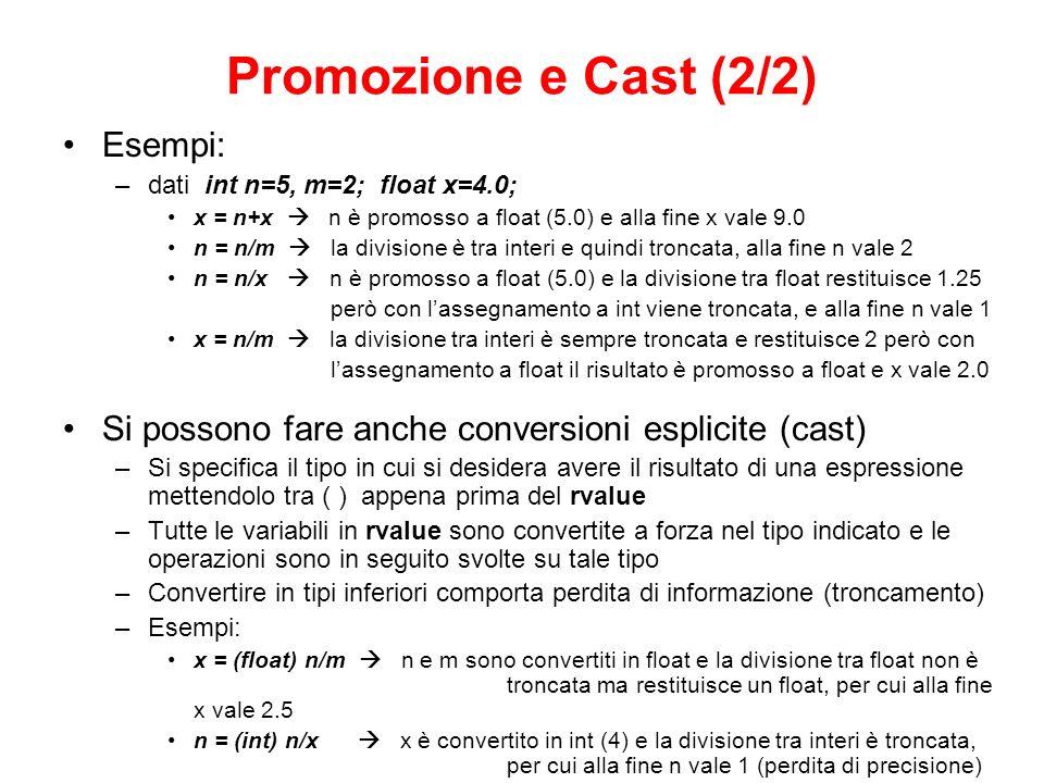 Promozione e Cast (2/2) Esempi: