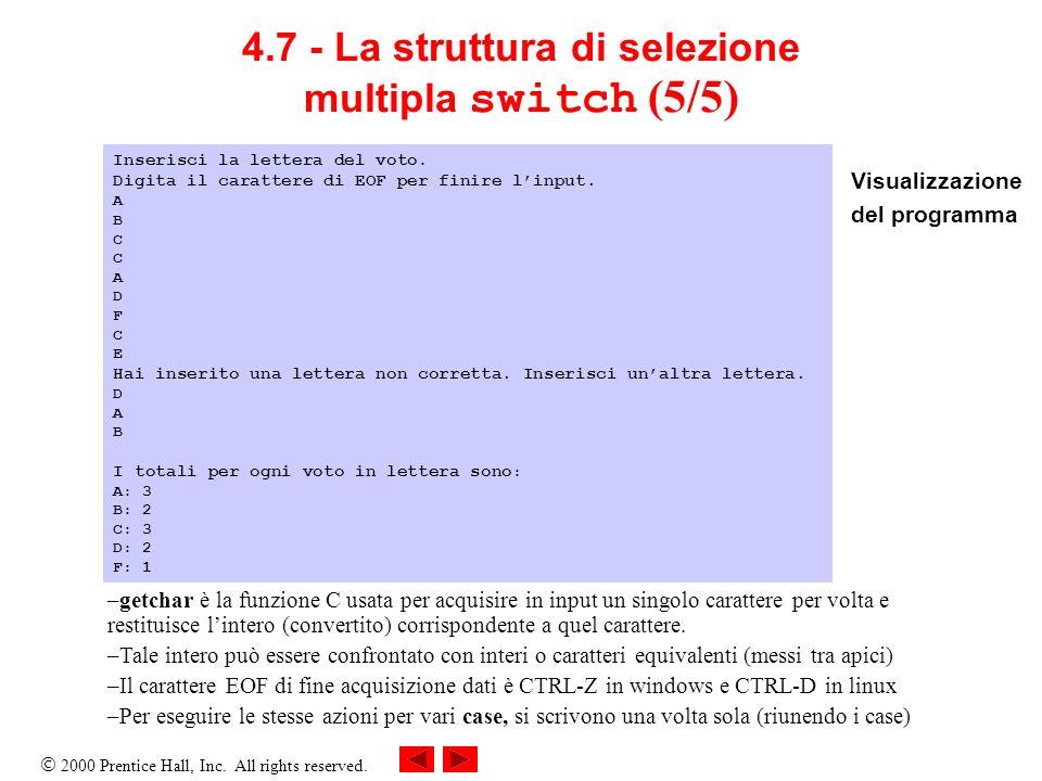 4.7 - La struttura di selezione multipla switch (5/5)