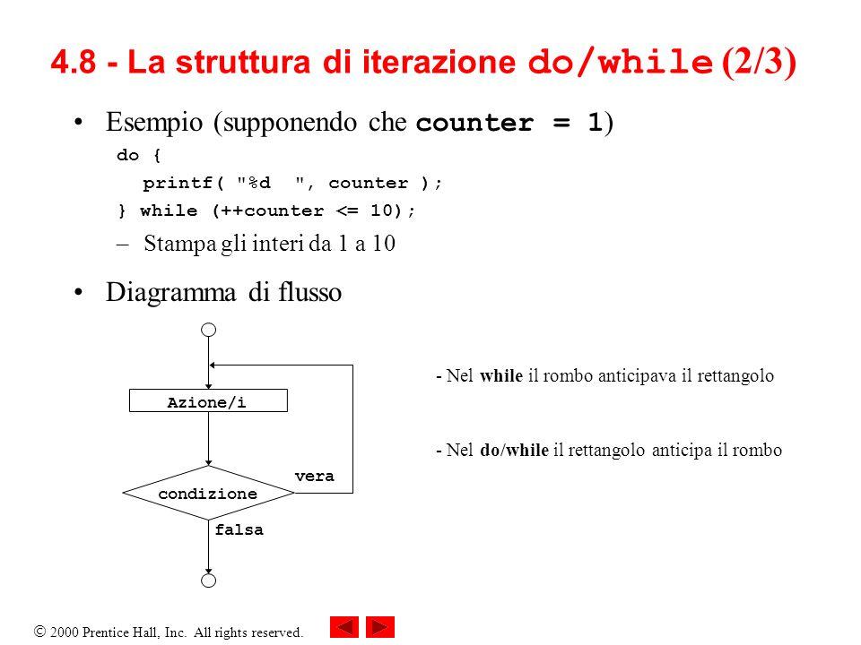 4.8 - La struttura di iterazione do/while (2/3)