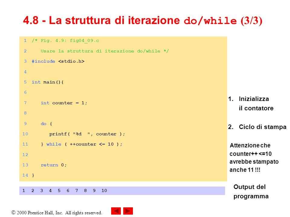 4.8 - La struttura di iterazione do/while (3/3)