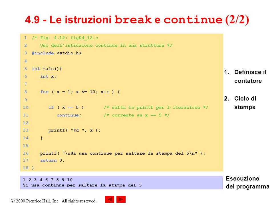 4.9 - Le istruzioni break e continue (2/2)