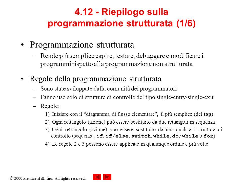4.12 - Riepilogo sulla programmazione strutturata (1/6)