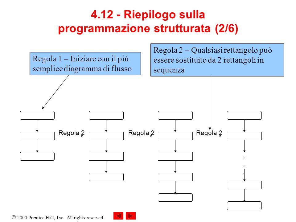4.12 - Riepilogo sulla programmazione strutturata (2/6)