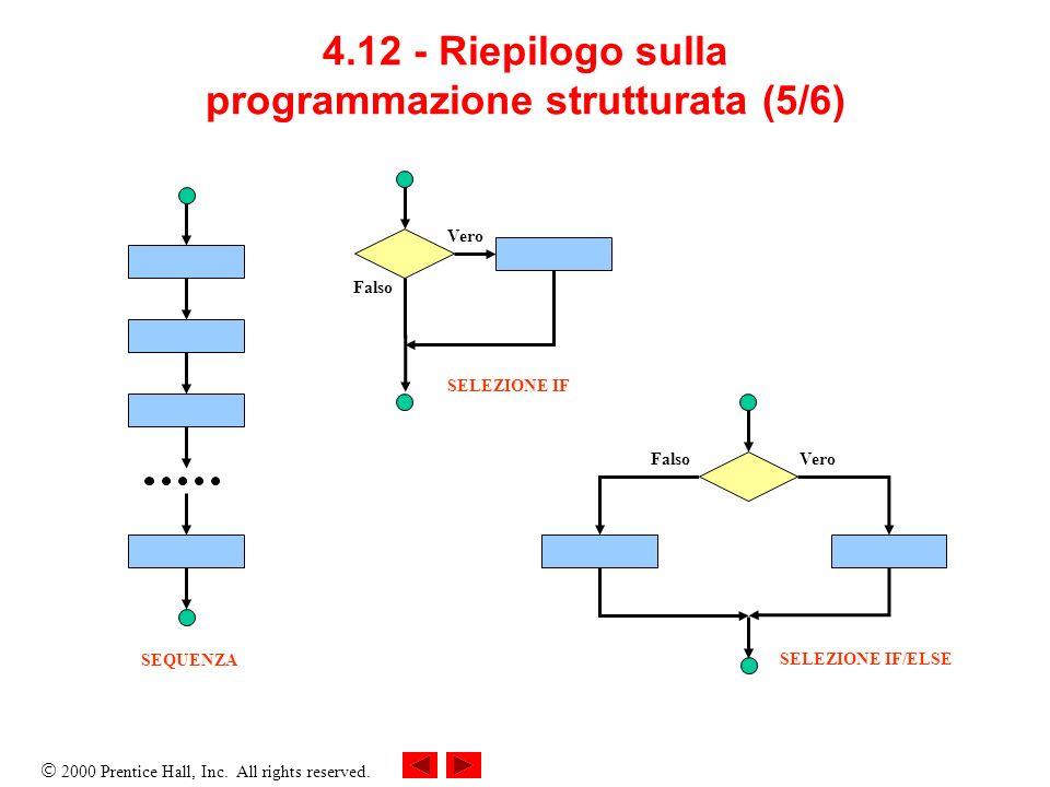 4.12 - Riepilogo sulla programmazione strutturata (5/6)
