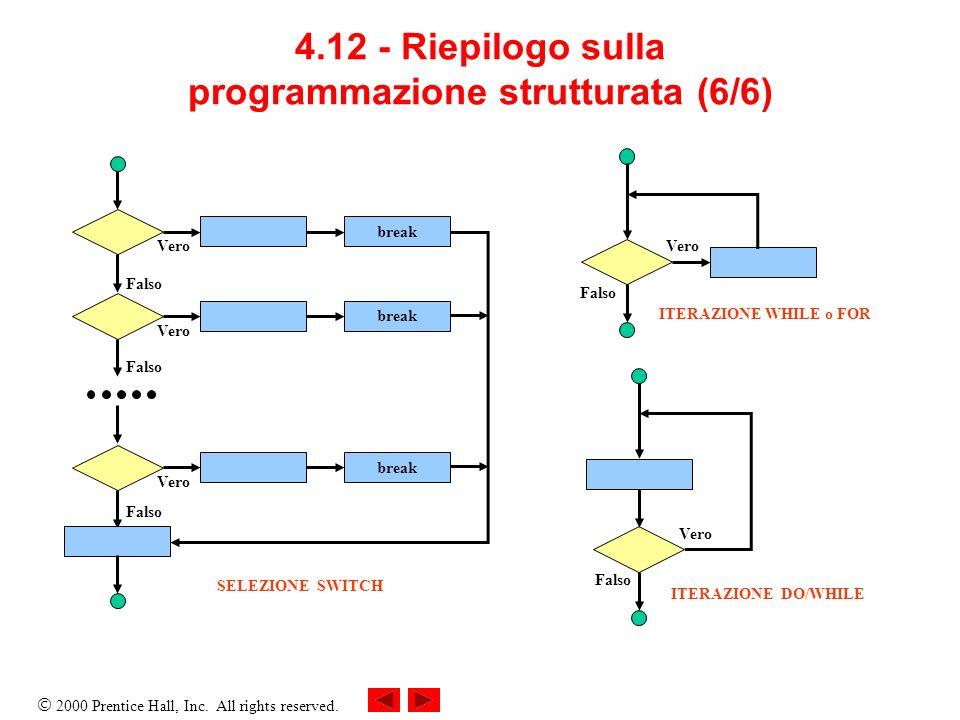 4.12 - Riepilogo sulla programmazione strutturata (6/6)