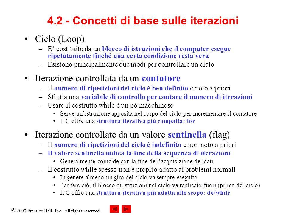 4.2 - Concetti di base sulle iterazioni