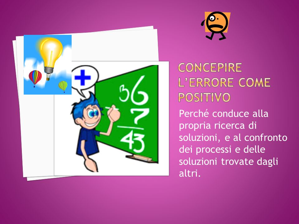 Concepire l'errore come positivo