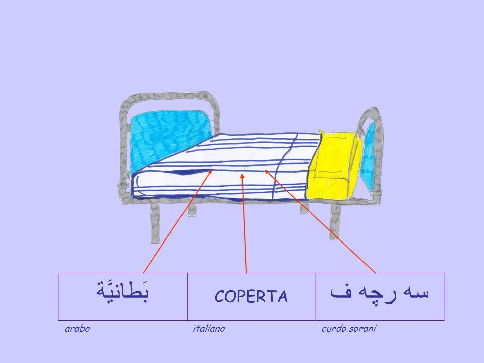 بَطانيَّة COPERTA سه رچه ف arabo italiano curdo sorani