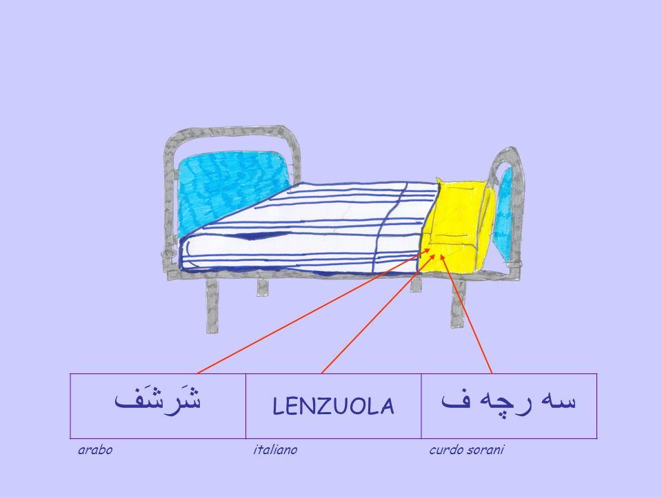 شَرشَف LENZUOLA سه رچه ف arabo italiano curdo sorani
