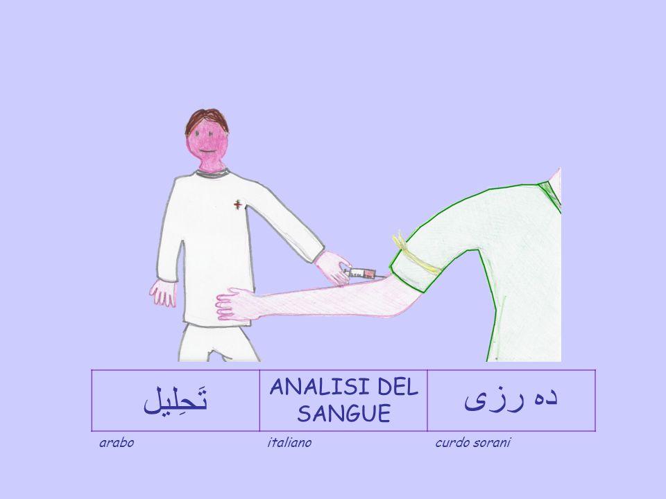 تََََحِليل ANALISI DEL SANGUE دہ رزی arabo italiano curdo sorani
