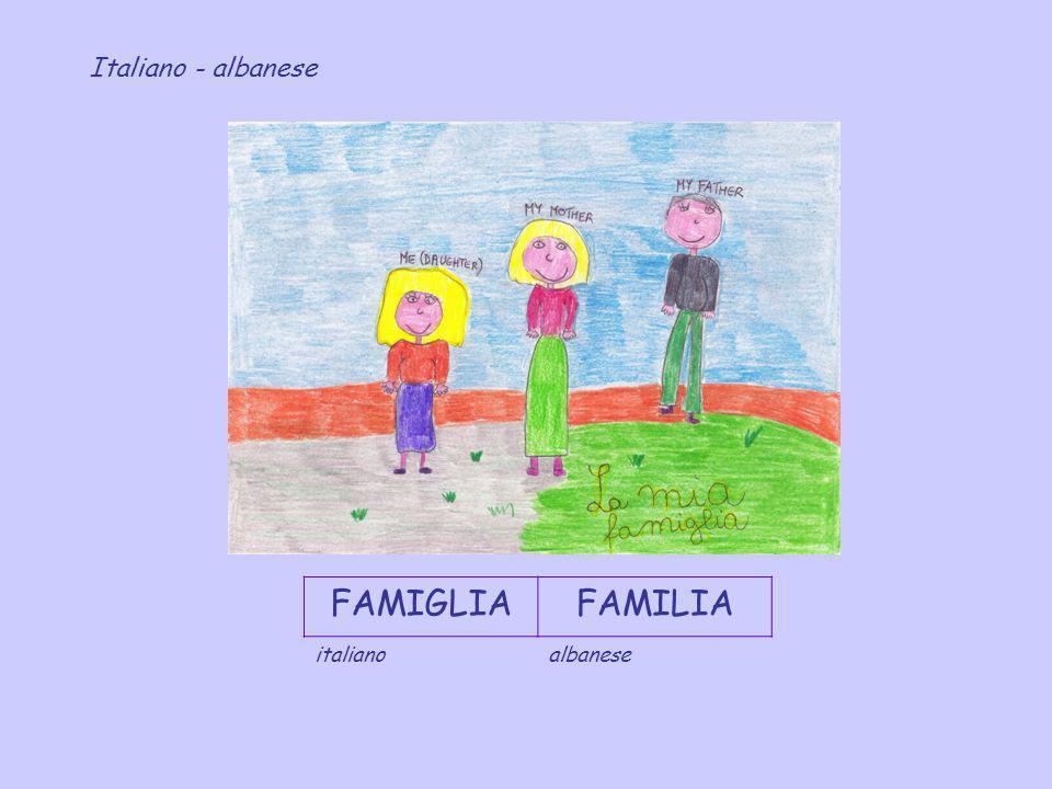 Italiano - albanese FAMIGLIA FAMILIA italiano albanese