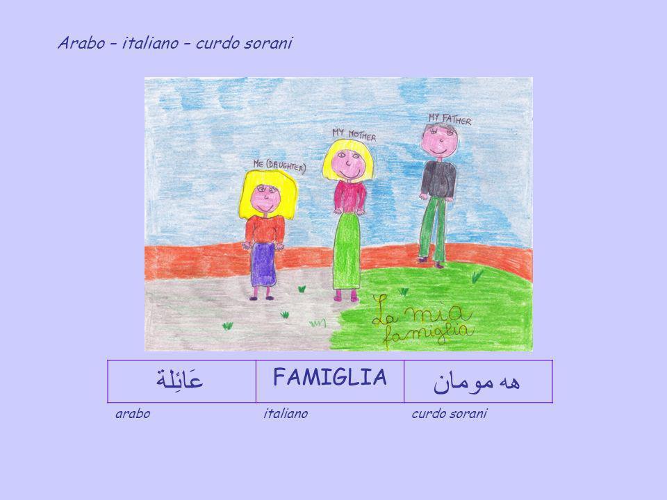 عَائِلة هه مومان FAMIGLIA Arabo – italiano – curdo sorani arabo