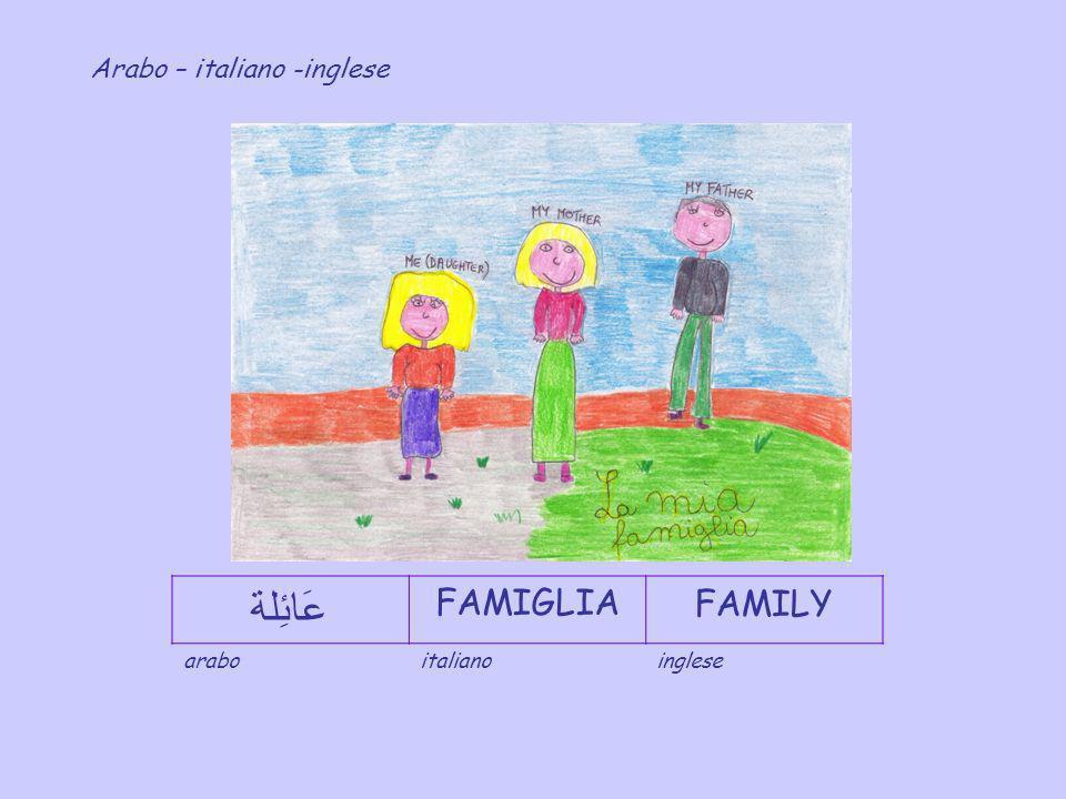 عَائِلة FAMIGLIA FAMILY Arabo – italiano -inglese arabo italiano