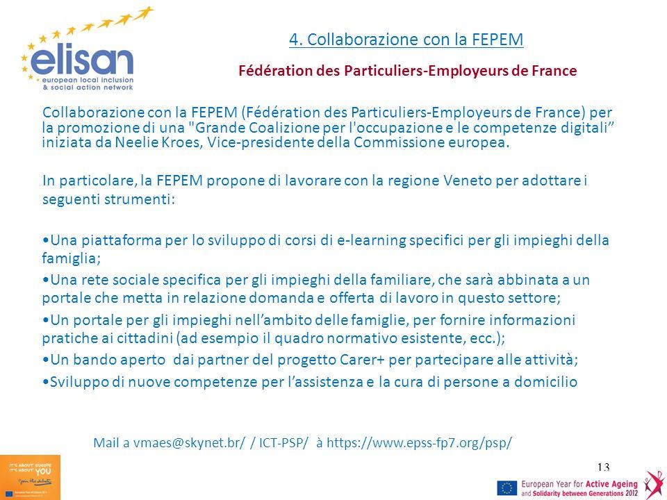 4. Collaborazione con la FEPEM