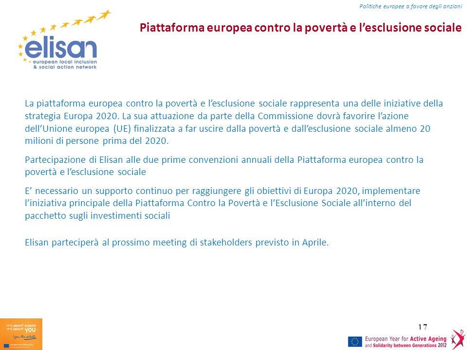 Piattaforma europea contro la povertà e l'esclusione sociale