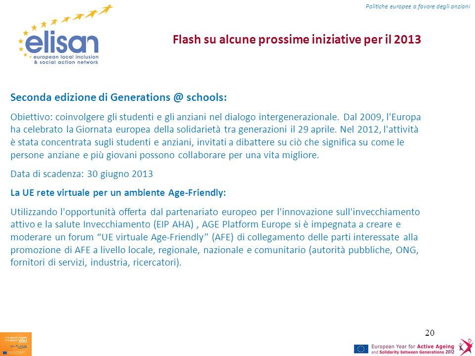Flash su alcune prossime iniziative per il 2013
