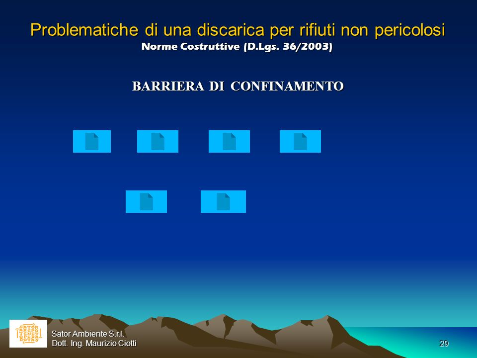 BARRIERA DI CONFINAMENTO