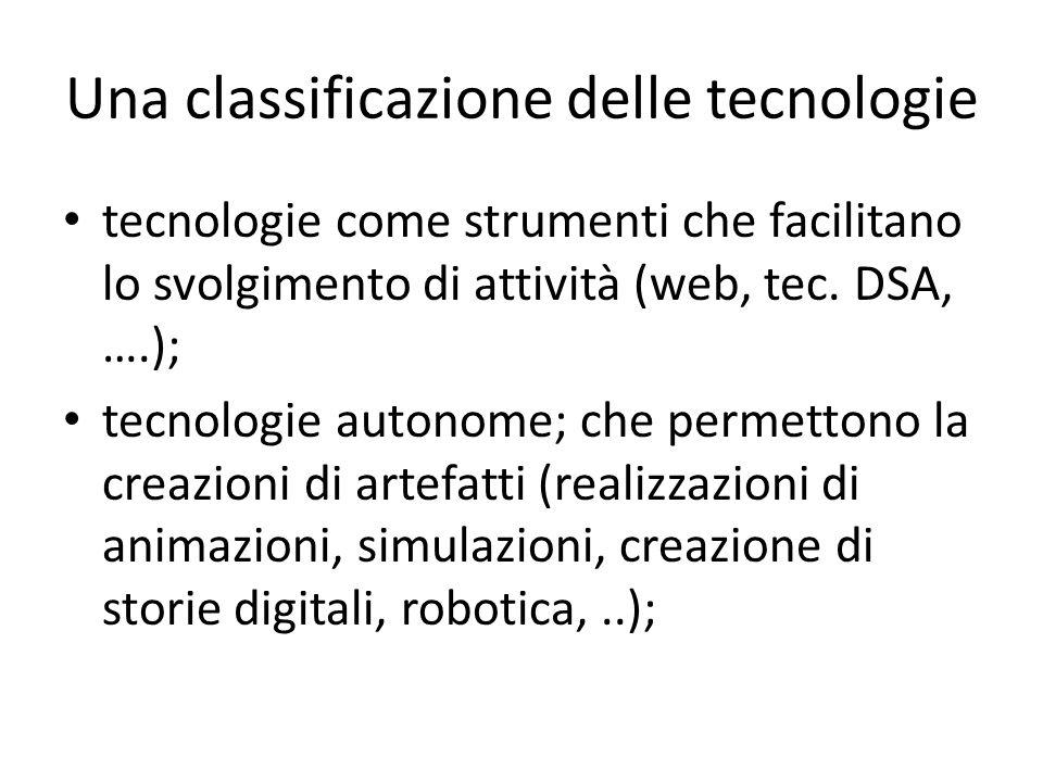 Una classificazione delle tecnologie