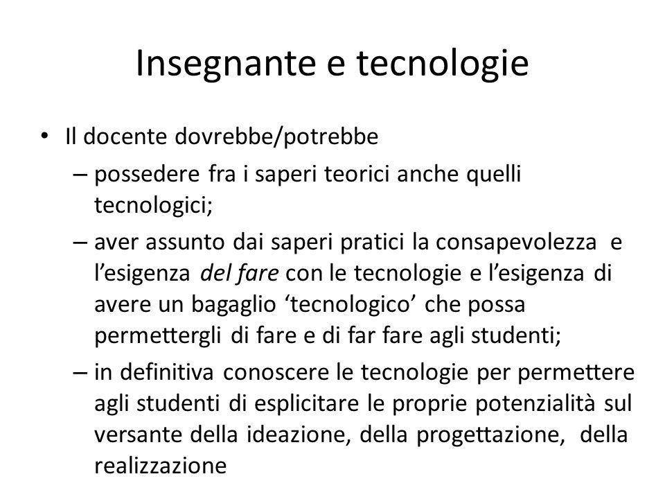 Insegnante e tecnologie