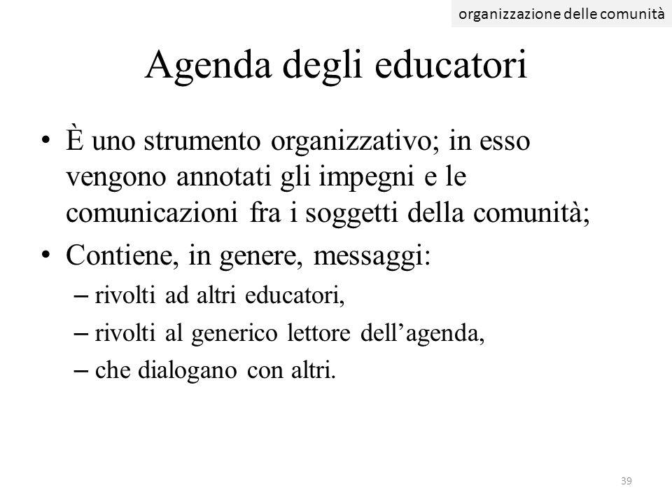 Agenda degli educatori