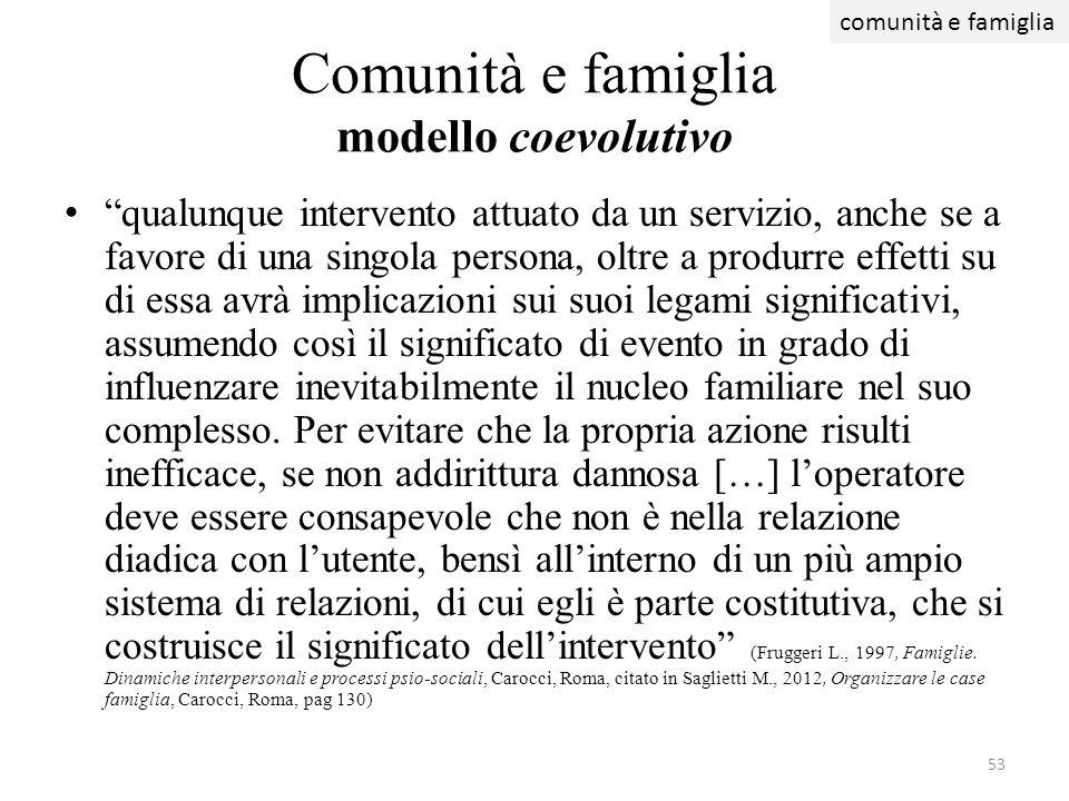 Comunità e famiglia modello coevolutivo