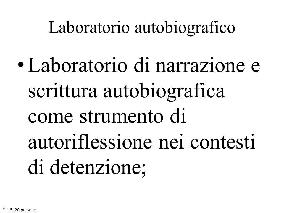 Laboratorio autobiografico