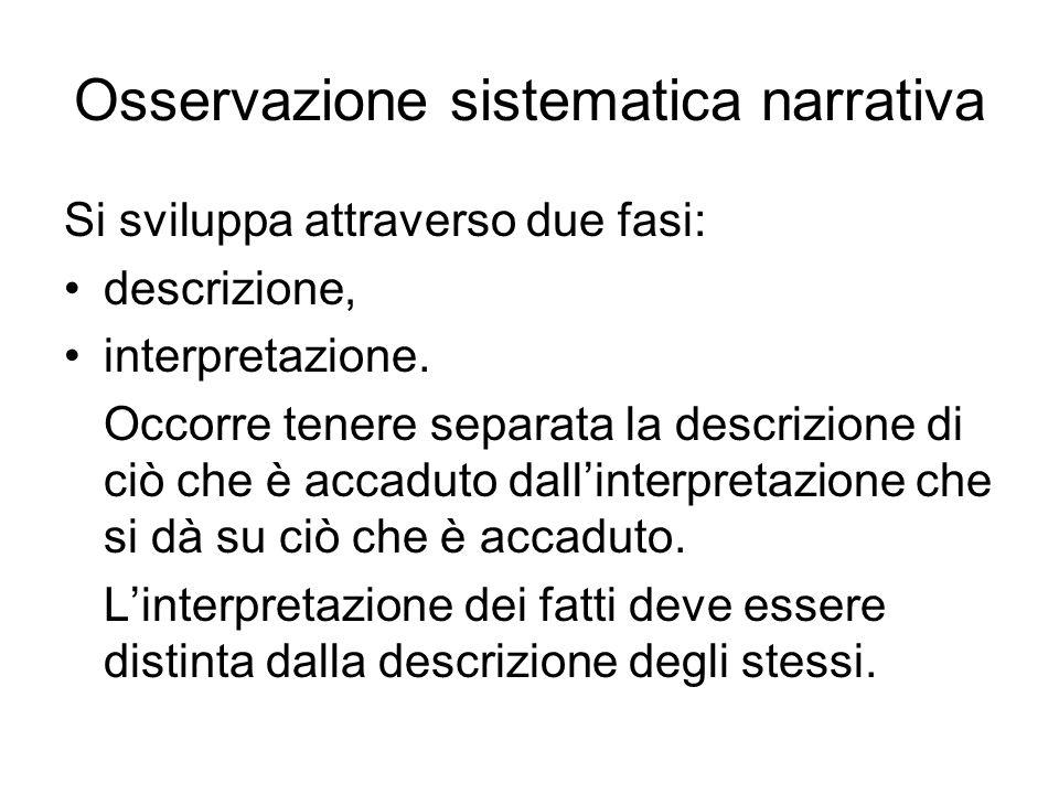 Osservazione sistematica narrativa