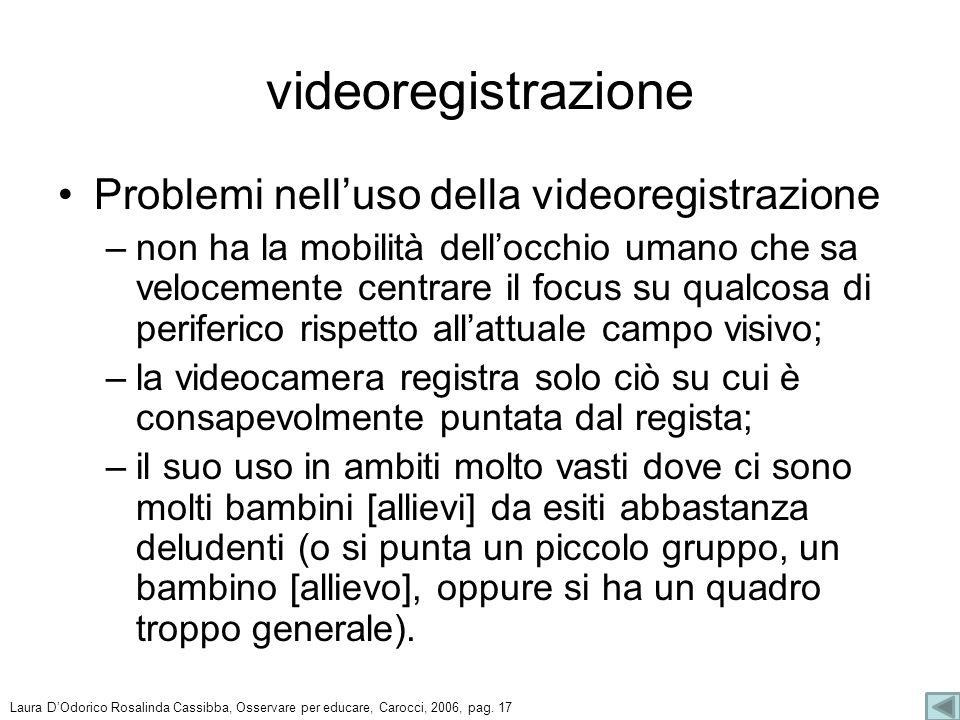 videoregistrazione Problemi nell'uso della videoregistrazione